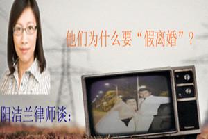 """阳洁兰律师:他们为什么要""""假离婚""""?"""