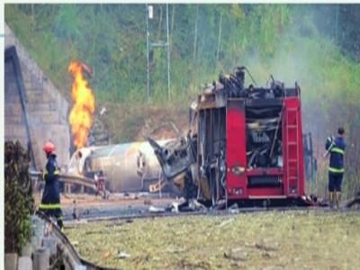 常吉高速槽罐车爆炸